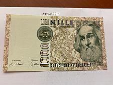 Buy Italy Marco Polo 1000 lire uncirc. banknote 1982 #28