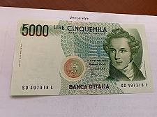 Buy Italy Bellini uncirculated banknote 5000 lira #12