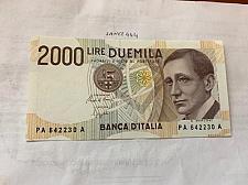 Buy Italy Marconi 2000 lire uncirc. banknote 1990 #3
