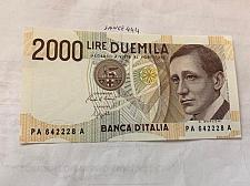 Buy Italy Marconi 2000 lire uncirc. banknote 1990 #5