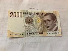 Buy Italy Marconi 2000 lire uncirc. banknote 1990 #6