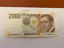 Buy Italy Marconi 2000 lire uncirc. banknote 1990 #7