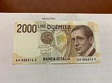 Buy Italy Marconi 2000 lire uncirc. banknote 1990 #10