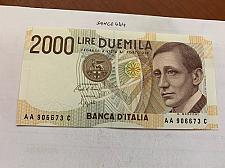 Buy Italy Marconi 2000 lire uncirc. banknote 1990 #11