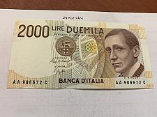 Buy Italy Marconi 2000 lire uncirc. banknote 1990 #12