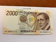 Buy Italy Marconi 2000 lire uncirc. banknote 1990 #15
