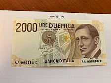 Buy Italy Marconi 2000 lire uncirc. banknote 1990 #16