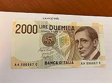 Buy Italy Marconi 2000 lire uncirc. banknote 1990 #18