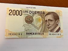 Buy Italy Marconi 2000 lire uncirc. banknote 1990 #19