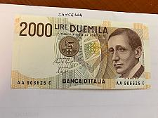 Buy Italy Marconi 2000 lire uncirc. banknote 1990 #20