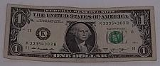 Buy 2013 'Cool Serial Number' One dollar Bill US Federal Reserve Note