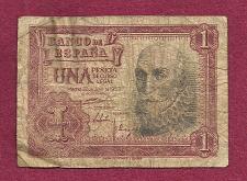 Buy SPAIN 1 Peseta 1953 Banknote A6137308 - Marques de Santa Cruz P-144