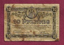 Buy GERMANY 10 Pfennig 1920 Banknote Notgeld der Stadt Saarburg
