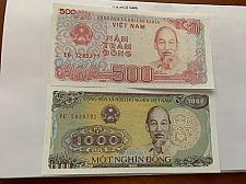 Buy Vietnam lot of 2 uncirc. banknotes