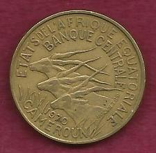 Buy FRANCE French 25 FRANCS 1970 COIN - Cameroun