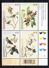 Buy 2004 Canada John James Audubon Birds block of 4 MNH lower right corner
