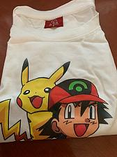 Buy Children white T-shirt printed of pokemon star