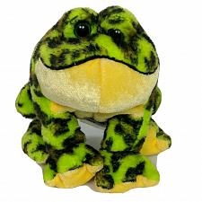 "Buy Ganz Webkinz Lil Kinz Bullfrog Plush Green Brown Spotted Stuffed Animal HS114 5"""
