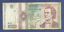 Buy ROMANIA 1000 Lei 1991 Banknote 565618, Poet; Sails; Monastery, Watermark