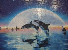 Buy 300 Pc Puzzle Swim In The Moonlight Puzzle 13 in x 19 in NO BOX