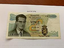 Buy Belgium 20 francs circulated banknote 1964 #2