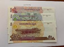 Buy Cambodia lot of 3 uncirc. banknotes 2001/4