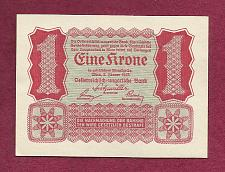 Buy AUSTRIA Eine Krone 1922 Banknote p-73 Uniface UNCirculated Note