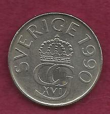 Buy SWEDEN 5 Kronor 1990 Coin