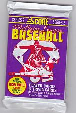 Buy Score 1991 (Series 2) Baseball Cards Factory Sealed Pack