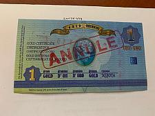 Buy Cyprus 1 gram Gold certificate uncirc. banknote 2011