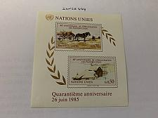 Buy United Nations Geneve 40 years U.N.O. s/s 1985 mnh stamps