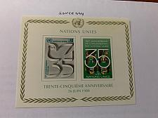 Buy United Nations Geneve 35th Anniversary s/s 1980 mnh stamps