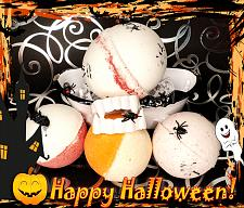 Buy Halloween Inspired Bath Bombs set of 5/Your Choice of Spooky Fall Scents/2 XL & 3 Lar