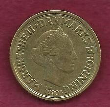 Buy DENMARK 20 KRONER 1990 Coin - Margrethe II, Copenhagen, Al-Bronze