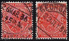 Buy INDIEN INDIA [1934] MiNr 0137 I,II ( O/used )
