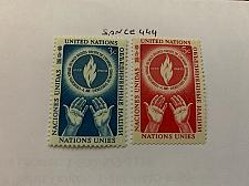 Buy United Nations Human rights 1953 mnh stamps