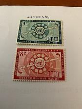 Buy United Nations I.T.U. 1956 mnh stamps