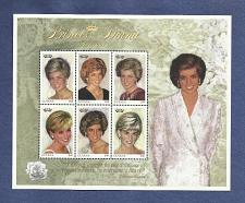 Buy Princess Diana Mint Stamp Sheet 1997 Guyana $80