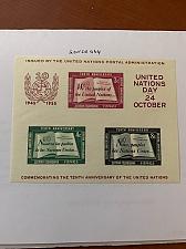 Buy United Nations U.N. 10 anniv. s/s 1955 mnh stamps