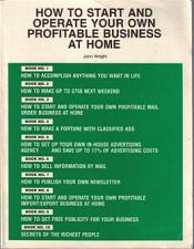 Buy Start and Operate Your Own Profitable Business at Home :: FREE Shipping
