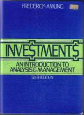 Buy INVESTMENTS An Introduction to Analysis & Management HB :: FREE Shipping