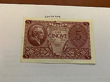 Buy Italy 5 lire uncirc. banknote 1944 #12