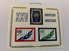 Buy United Nations 25 years UNO s/s 1970 mnh stamps