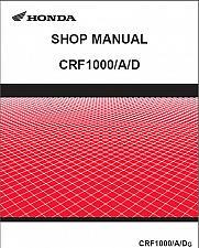 Buy Honda CRF1000 / CRF1000A / CRF1000D Service Repair Shop Manual CD