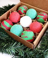 Buy Large Red, White and Green Christmas Bath Bomb Box Set of 4/9/12