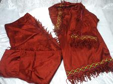Buy Large Native American Red Satin Costume