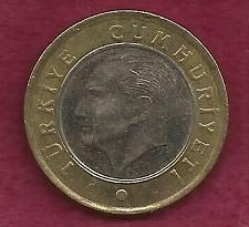 Buy Turkey 1 Lirasi 2009 Coin - (Bi-Metallic)