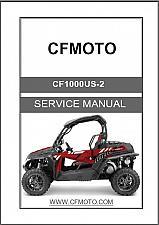Buy CFMoto ZForce 1000 ( CF1000US-2 ) UTV Service Repair Manual on a CD
