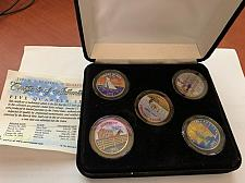 Buy United States colorized set of quarters coins 2001