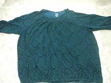 Buy Short Sleeve Blue Blouse Size 4X cotton / polyester Good clean condition comes from n